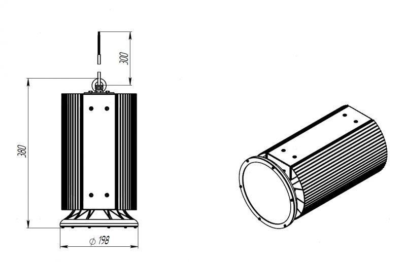 Светодиодный светильник ДСП 08-125-50-Д120