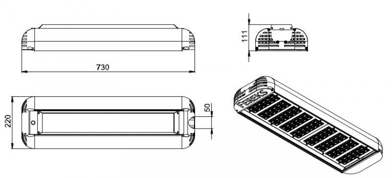 Уличный светодиодный светильник ДКУ 07-234-50-Д120